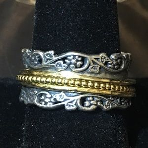 Or Paz Sterling Spinner Ring